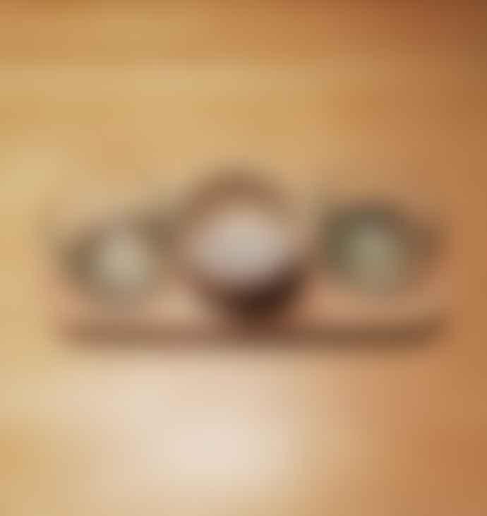 escape  Walnut Aperitif Board With 3 Glasses