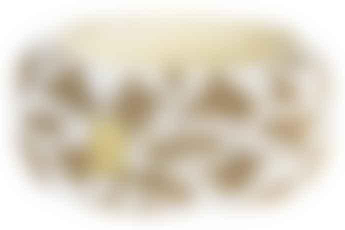 Return to Sender White & Gold Broad Beaded Bracelet