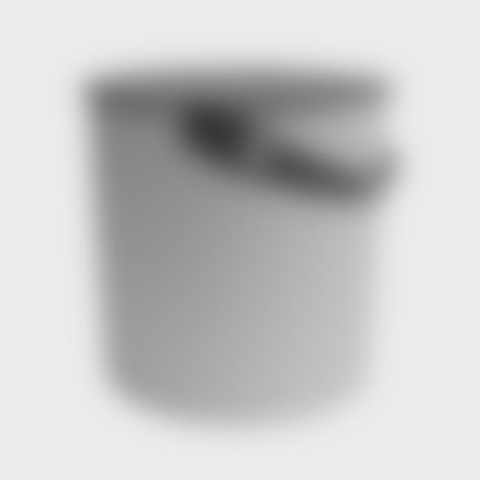Hachiman Medium Grey-Anthracite Lidded Storage Bucket