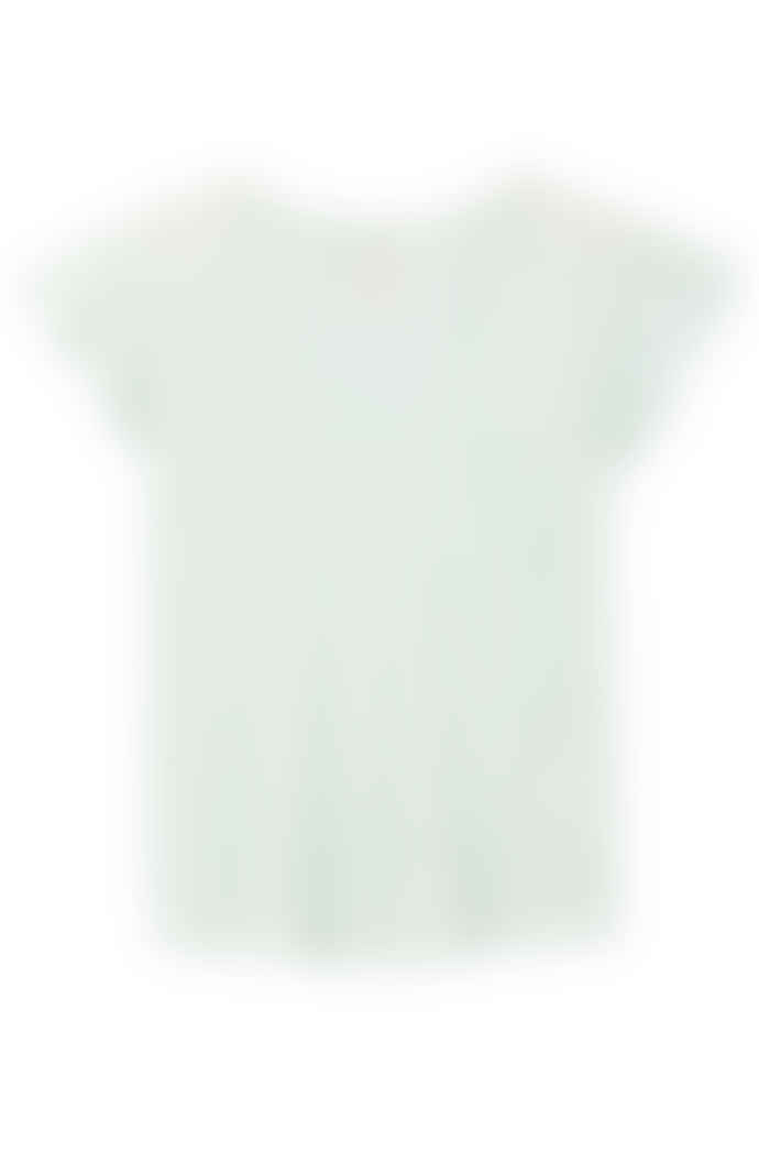 Rebecca Taylor La Vie washed textured jersey t-shirt in Stem