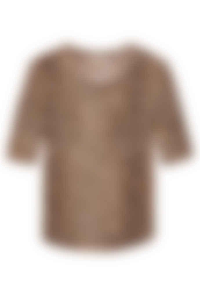 Rebecca Taylor Short sleeve leopard jersey t-shirt