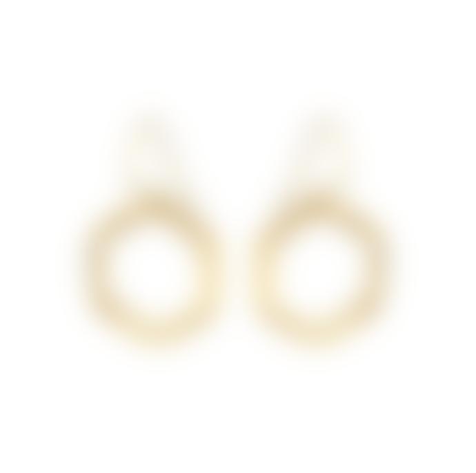 Mirabelle Jewellery  Hexagon Earrings Gold Vermeil