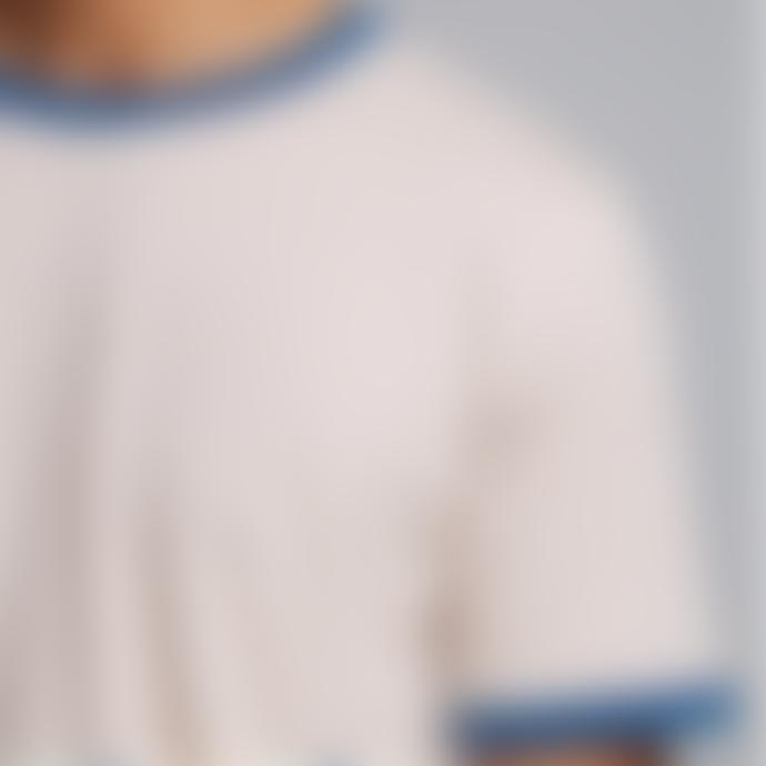 Hymn Two Stripe 'WRONGLANE' Navy/Red T-Shirt