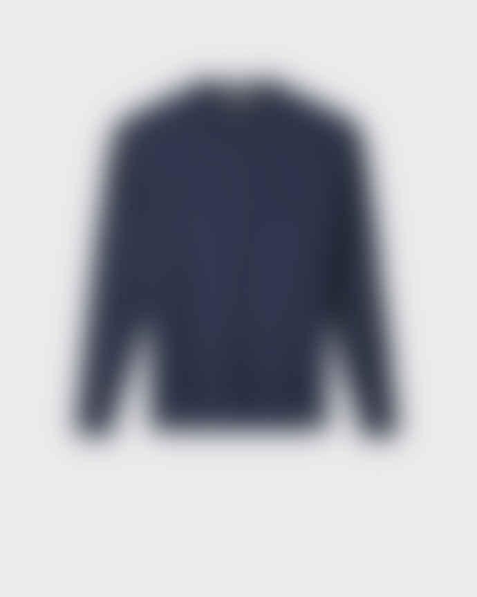 Minimum Navy Curth Knit Jumper
