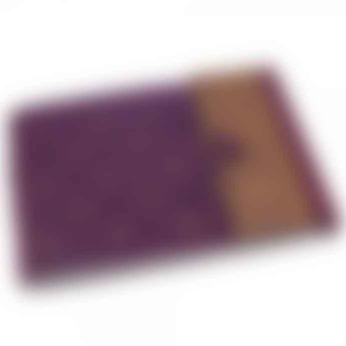 Paper High Large Sari Photo Album in Purple and Gold