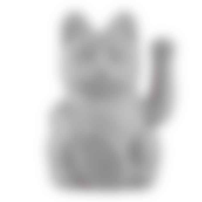 Donkey Products Grey Lucky Waving Cat Ornament