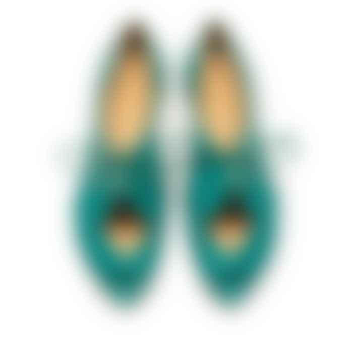 Tracey Neuls Online Perry Aqua Turquoise Leather Sandal