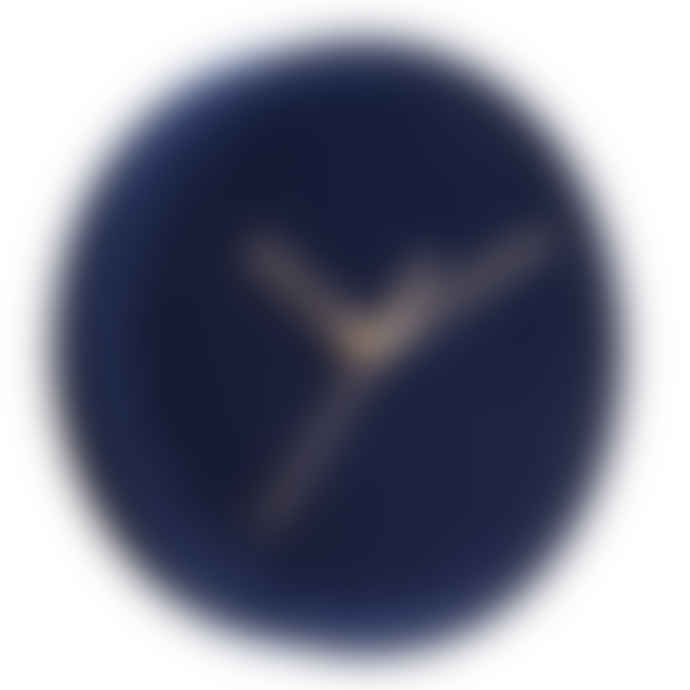Karlsson Luxe Velvet Wall Clock- Dark Cobalt