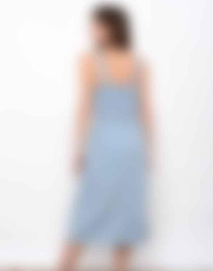 Leon & Harper Renaud Bleach Denim Dress