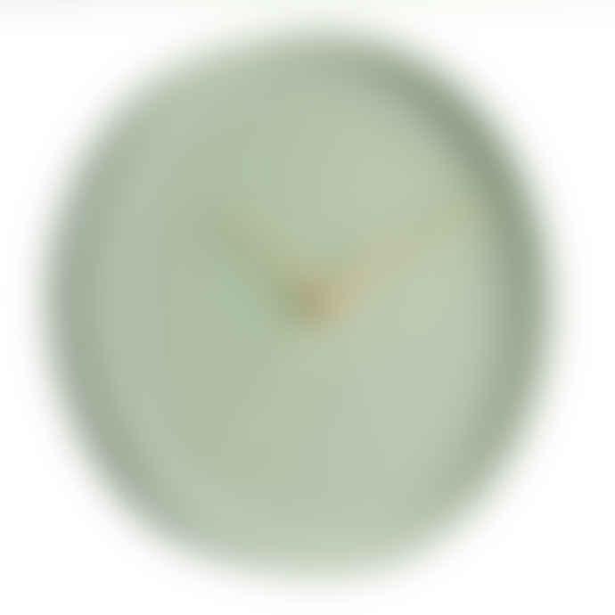 Karlsson Dusty Mint Luxe Velvet Wall Clock