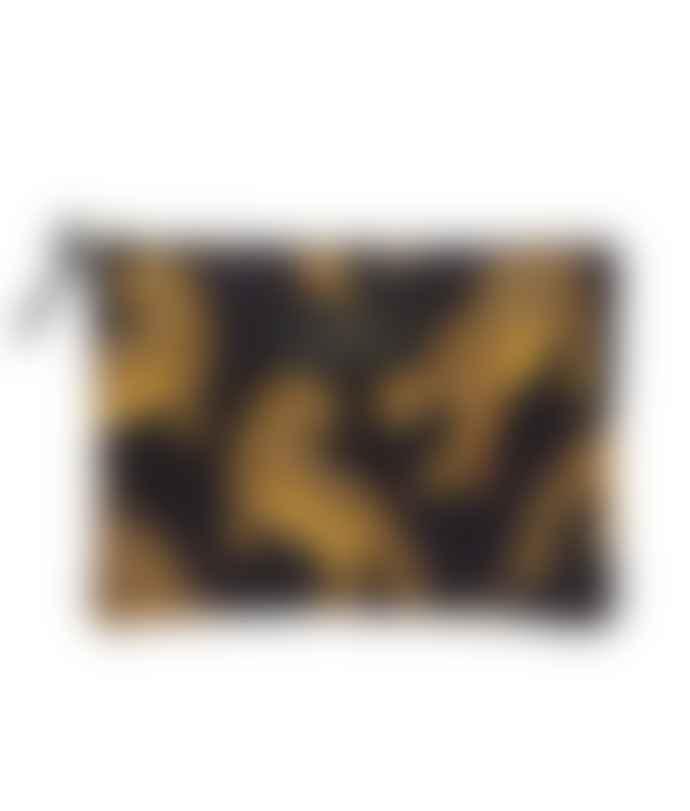 Wouf Black Leopard Large Pouch Bag