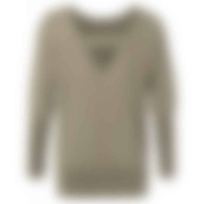 Yaya 1000118-913 Sand Lurex Sweater