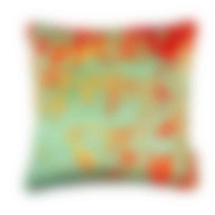 Susi Bellamy Gelo Verdino Abstract Printed Velvet Cushion