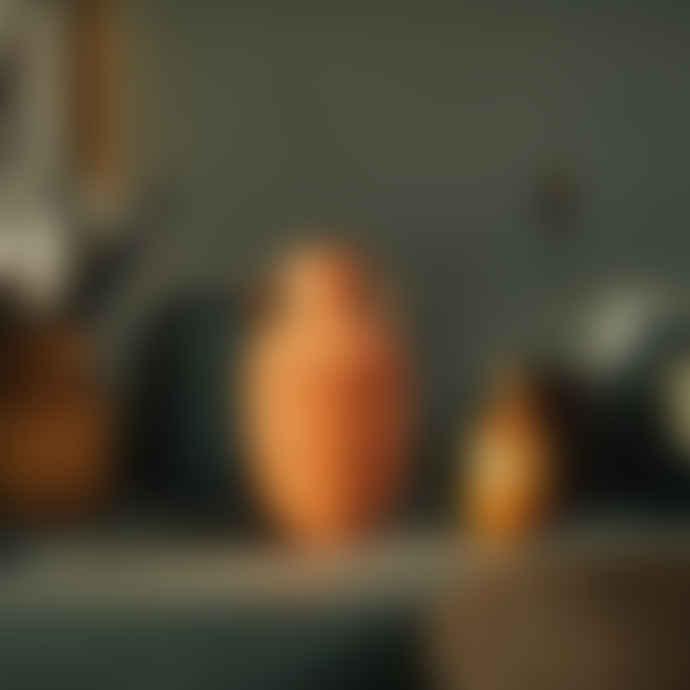 DOIY Design Set of 3 Terracotta Clay Amphora Snack Pots