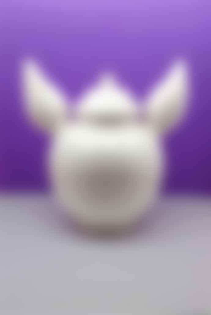 Guille Garcia-Hoz White Ceramic Round Ear Vase
