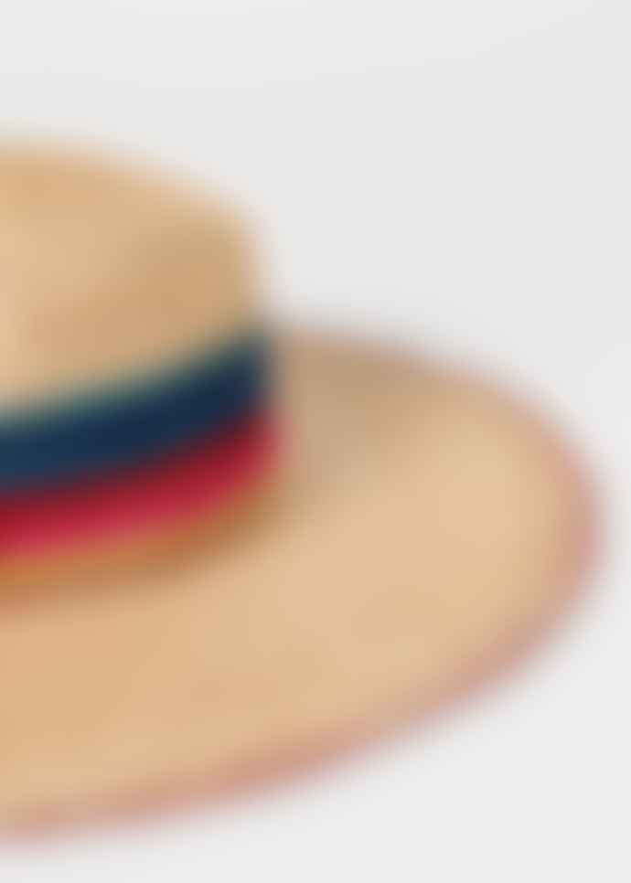 Paul Smith Womens Womens woven swirl stripe straw hat