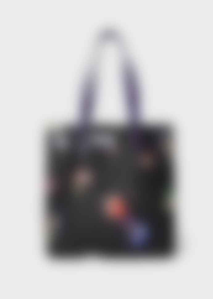 PS by Paul Smith Womens black scrap book print tote bag