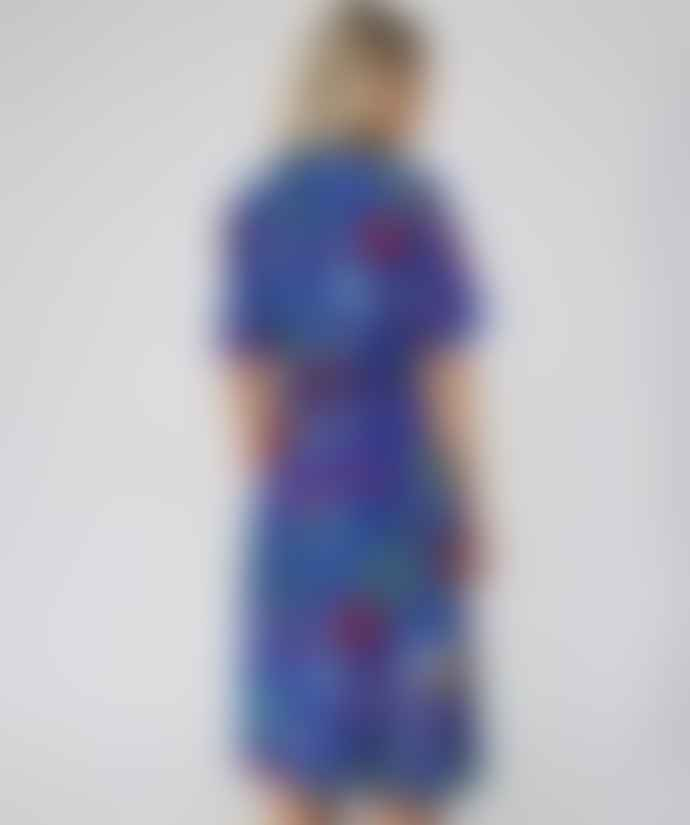 PS by Paul Smith Blue jungle print wrap dress