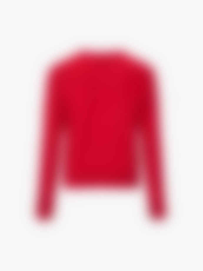 PS by Paul Smith Red knitted cardigan 100% wool