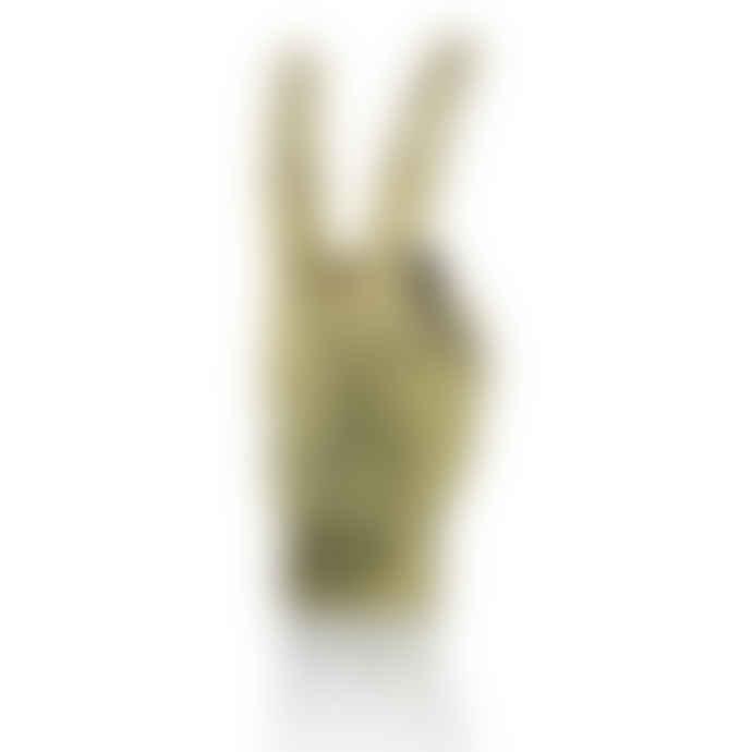 Bitten Design Gold 'Peace' Hand Sculpture / Jewellery Holder