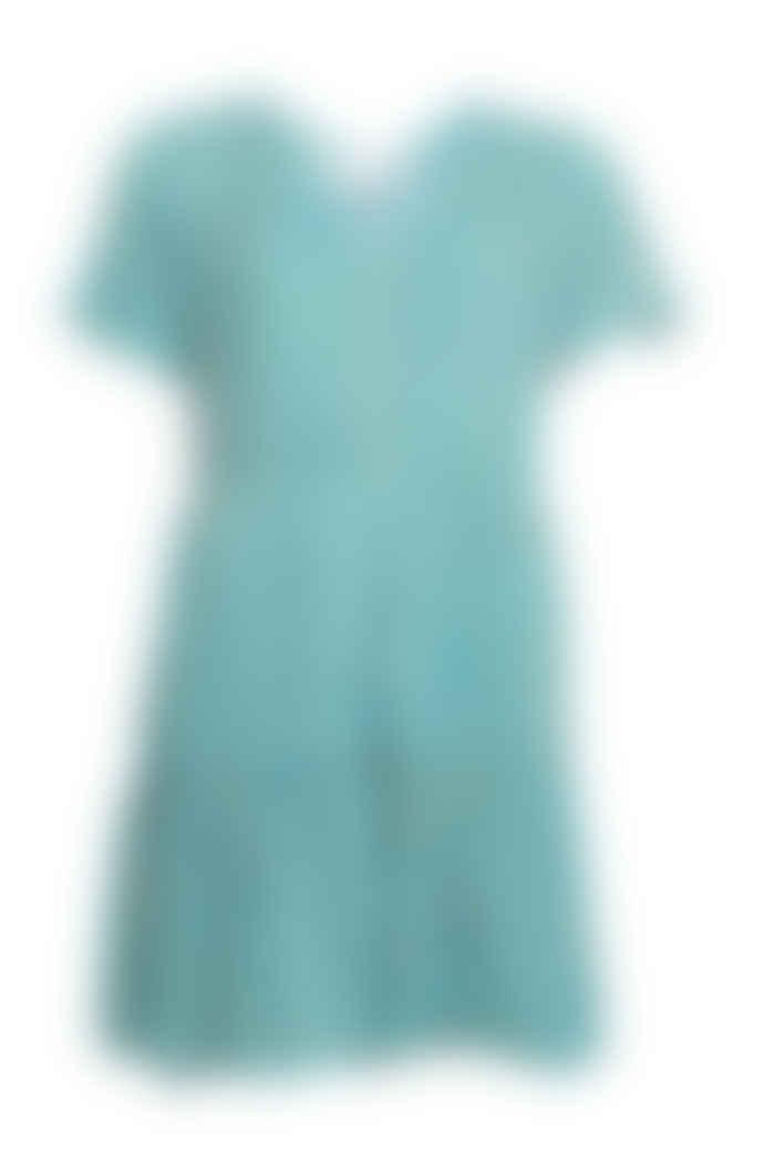 Sienna Goodies Turquoise Floral Short Retro Wrap Dress