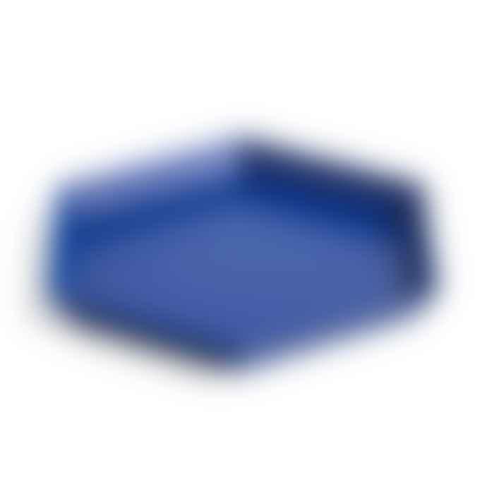HAY Royal Blue Steel Kaleido S Tray