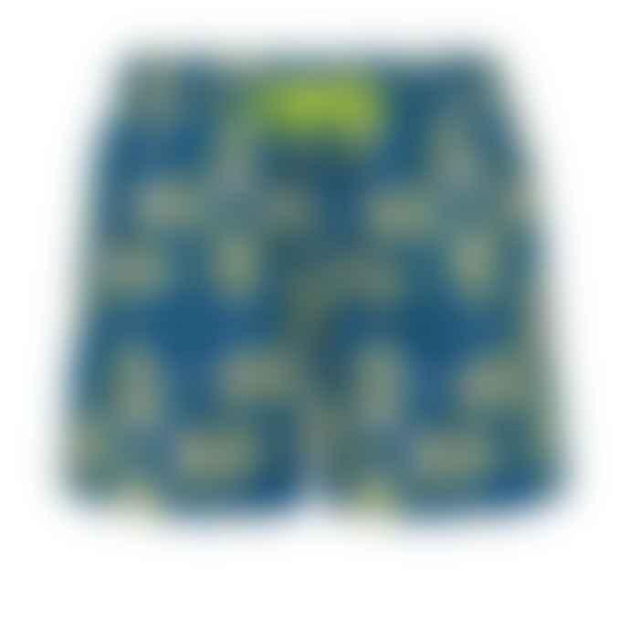 Sunuva Blue Skulls Swim Shorts