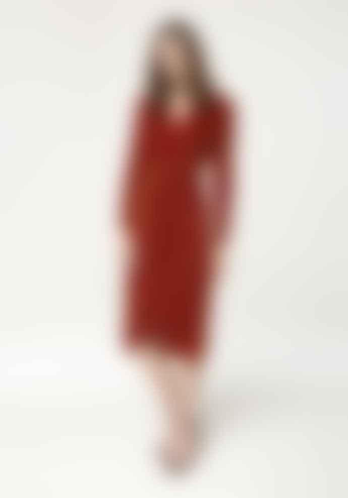 Paisie Saffron Velvet Tie Wrap Dress