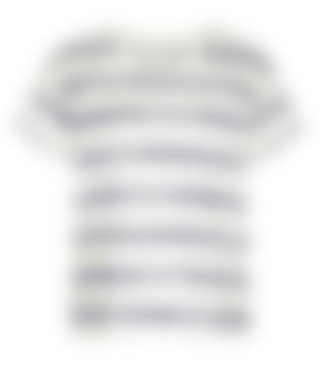 Armedangels Organic Cotton NAALINA BATIK STRIPE T-Shirt_White_Womens