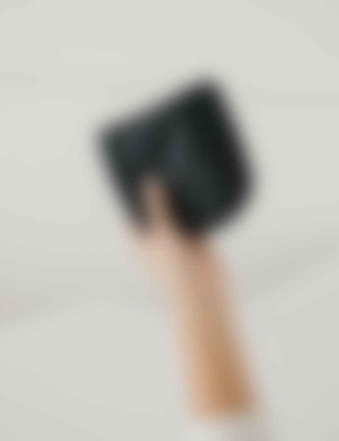 Baggu Black Small Leather U Pouch