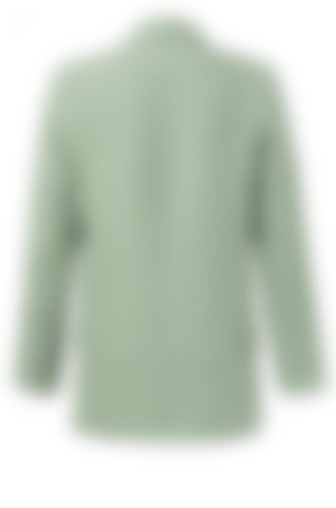 Yaya Striped Loose Fit Blazer - Light Sage