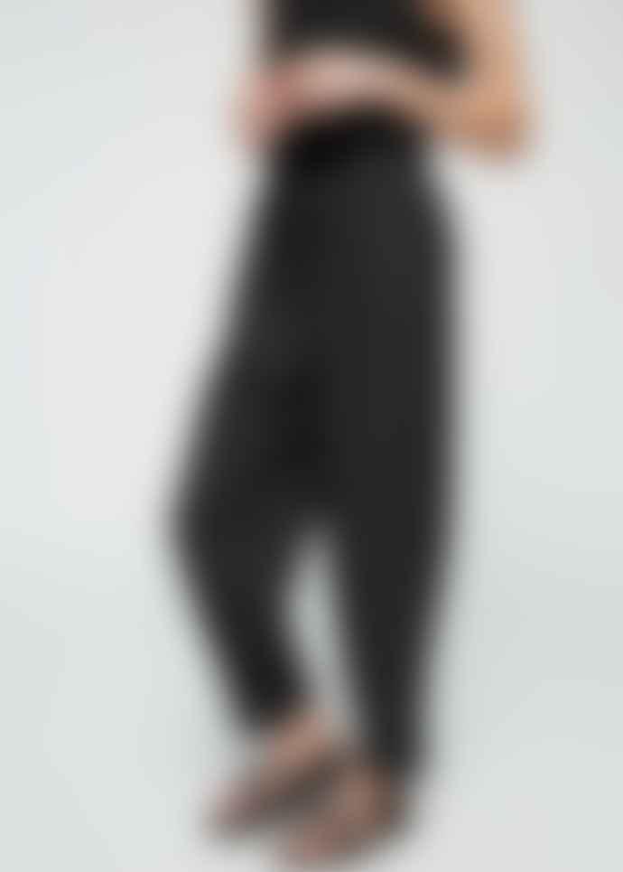 Armedangels Black Lyocell Wide Leg Trousers