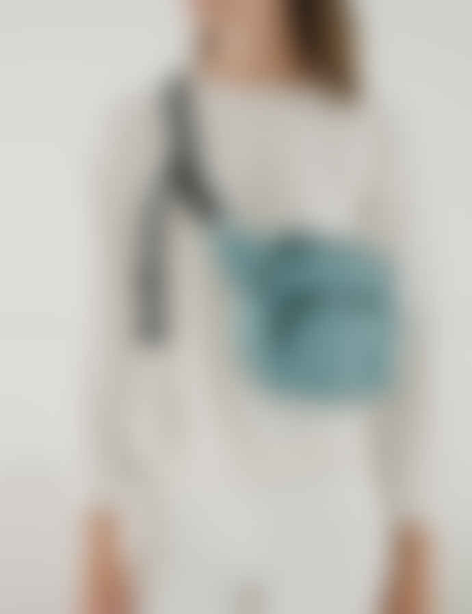 Baggu Teal Nylon Kidney Bag