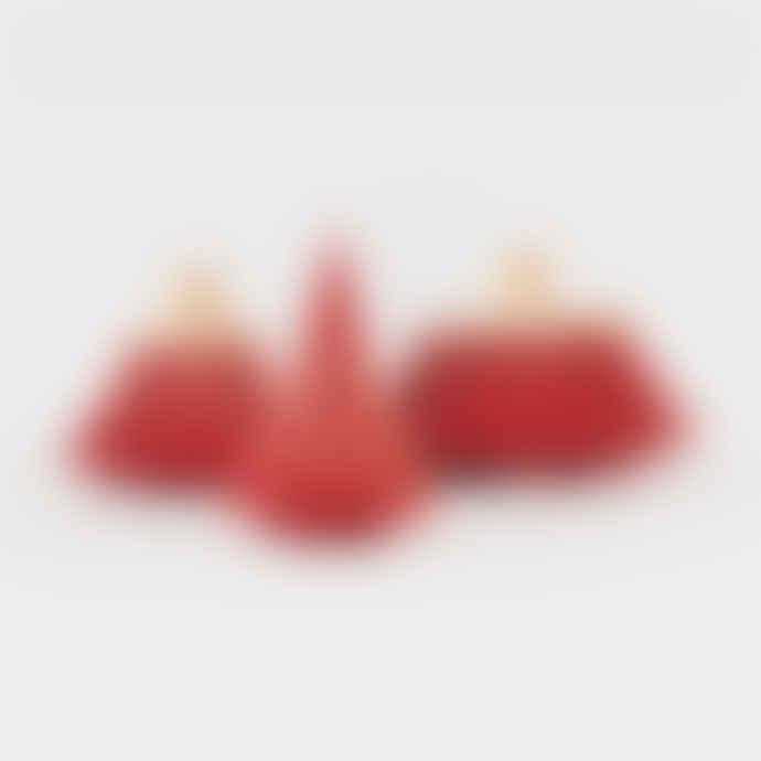 "laboratorio d'estorias Large Carmin Red ""Pinheiro"" Tree Decor"