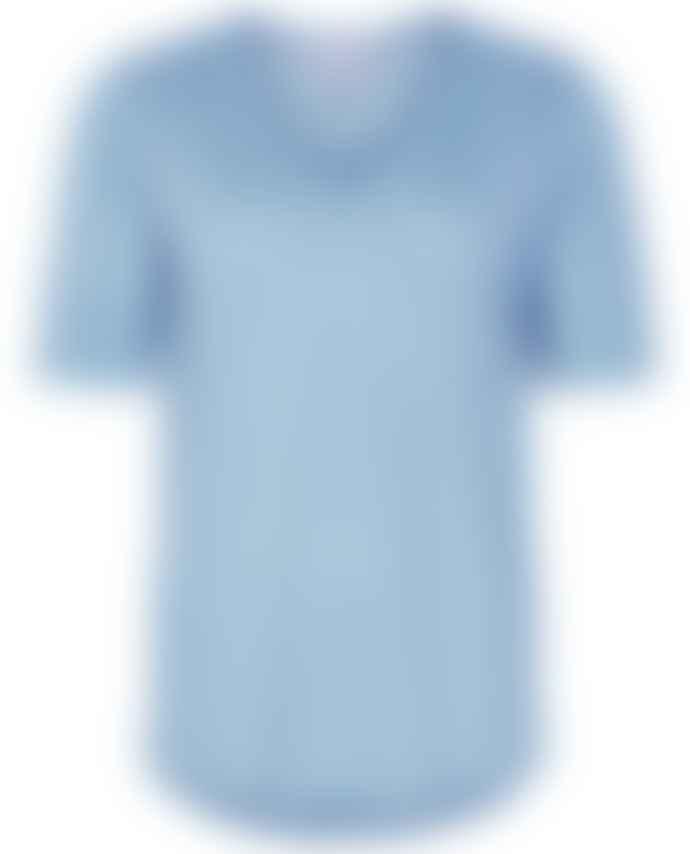 Part Two Curly Blue Linen T Shirt