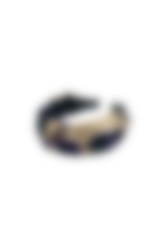 Black Colour Beige Satin Viola Headband