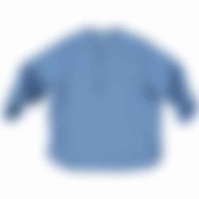 Buho Barcelona Blue Linen Shirt With Buttons