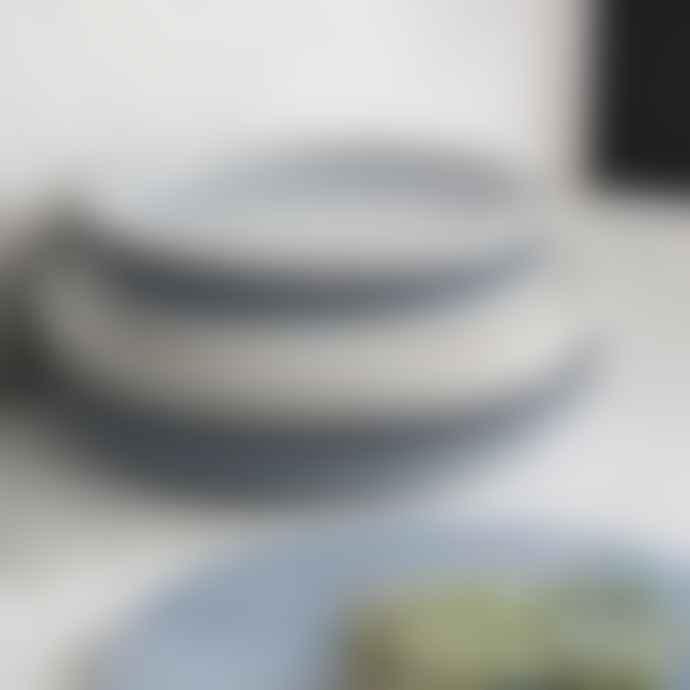 Denby Studio Blue 4 Piece Coupe Large Plate Set