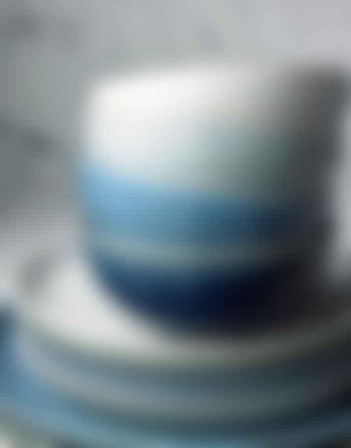 Denby Medium Stoneware Studio Blue 4 Piece Coupe Plate Set