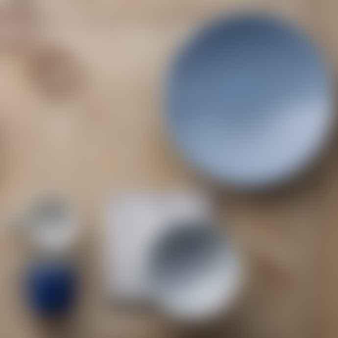 Denby 2500ml Large Stoneware Studio Blue Flint Ridged Bowl