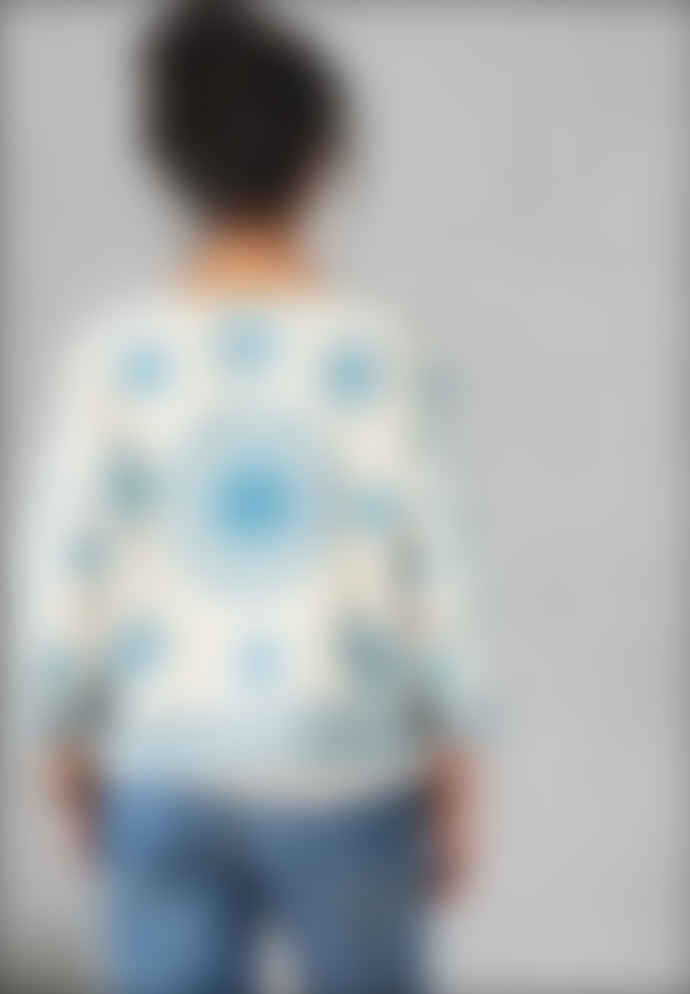 Star Mela Ecru & Blue Nevaeh Embroidered Jacket
