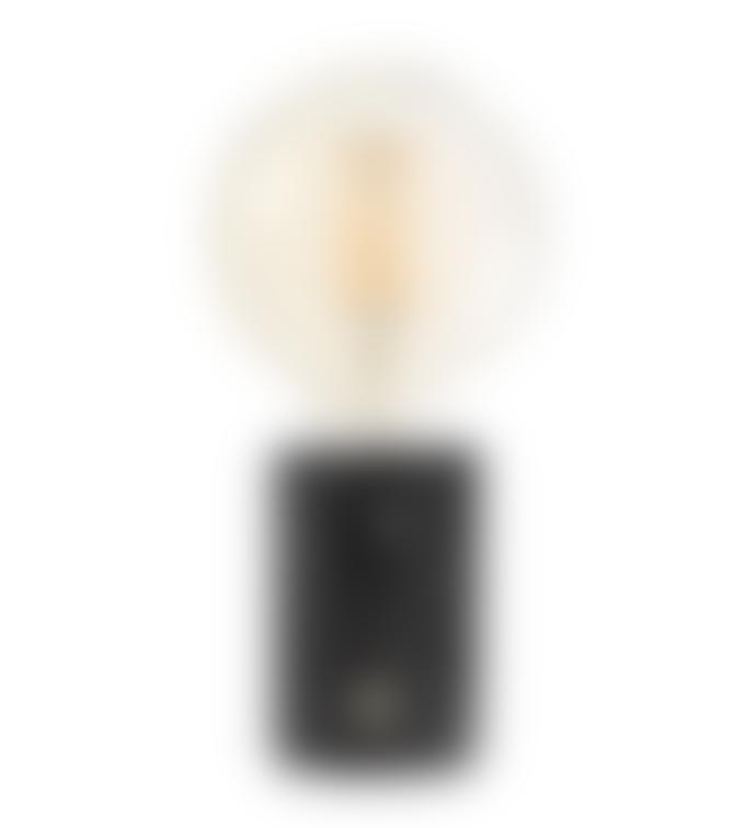 Edgar Orbis Black Marble Lamp