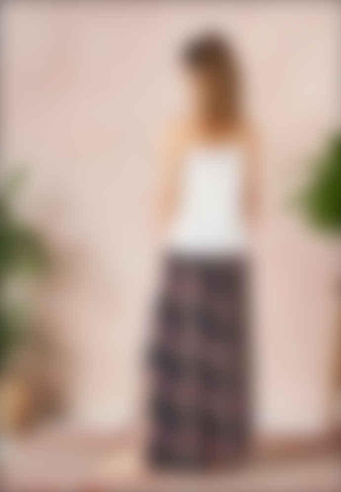 Star Mela Multi Pati Print Maxi Skirt