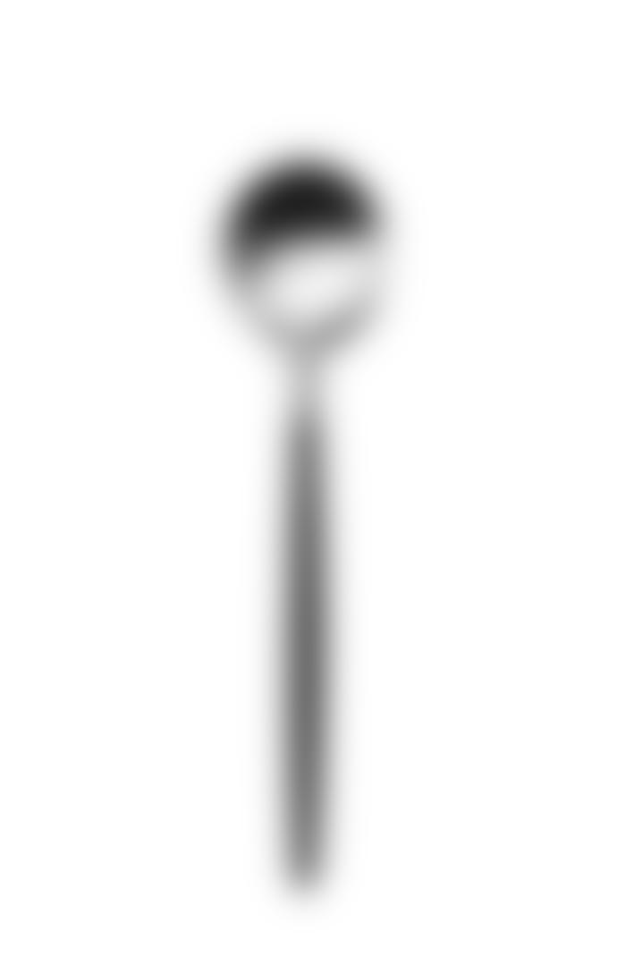 Cutipol Pack of 2 17.9 x 0.625cm Matte Black Stainless Steel Dessert Spoon