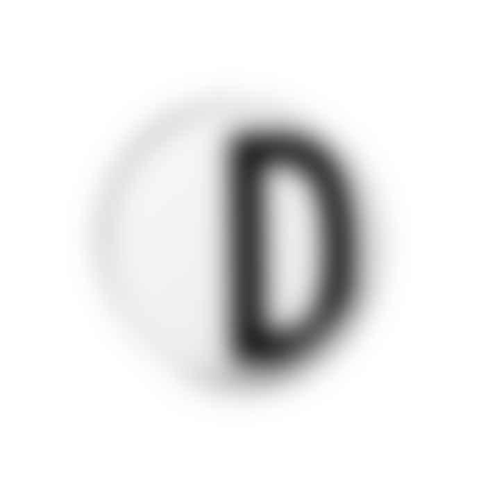 Design Letters White Porcelain Plate