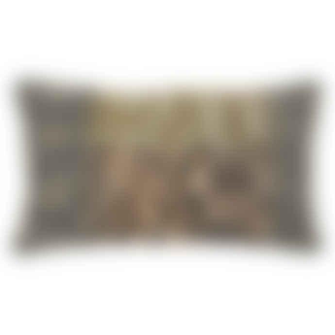 HKliving 70 x 40cm Cotton Patched Cushion