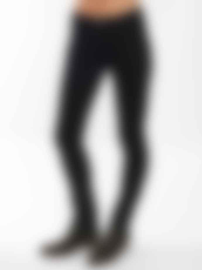 Nudie Jeans Skinny Lin Jeans Black Black