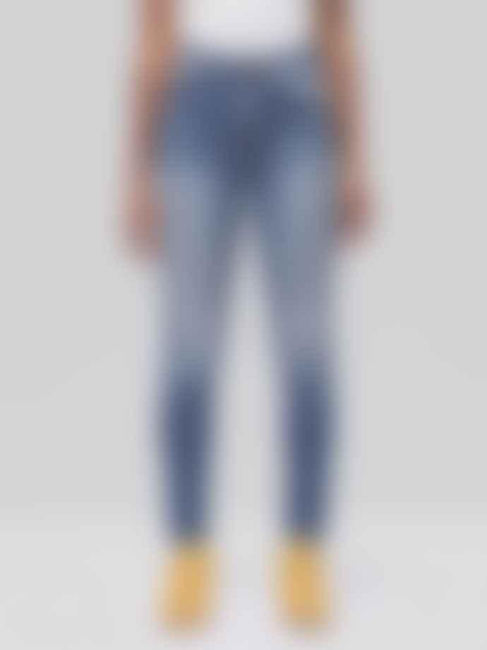 Nudie Jeans Hightop Tilde Jeans Mended