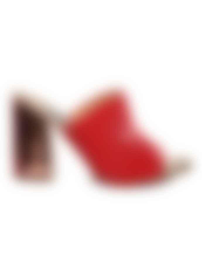 A'pair Corallo Velvet Metallic Mules Sandals