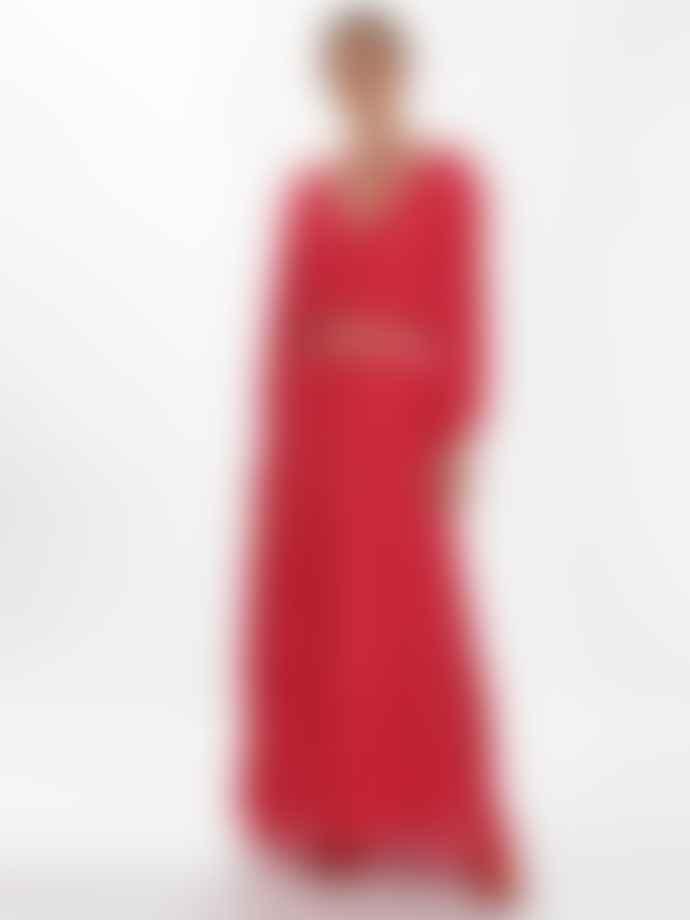Sundress Laura Woven Slit Sleeve Summer Dress